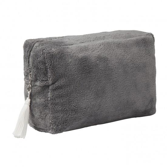 Trousse de toilette éponge bambou gris - Accueil par BB&Co