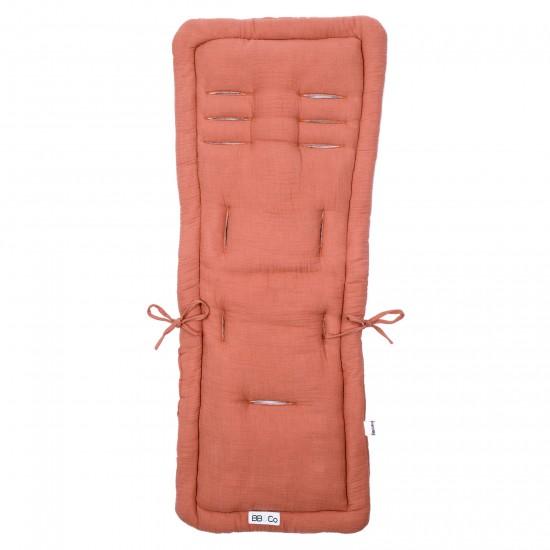 Assise poussette en double gaze marsala - Accessoires poussette par BB&Co