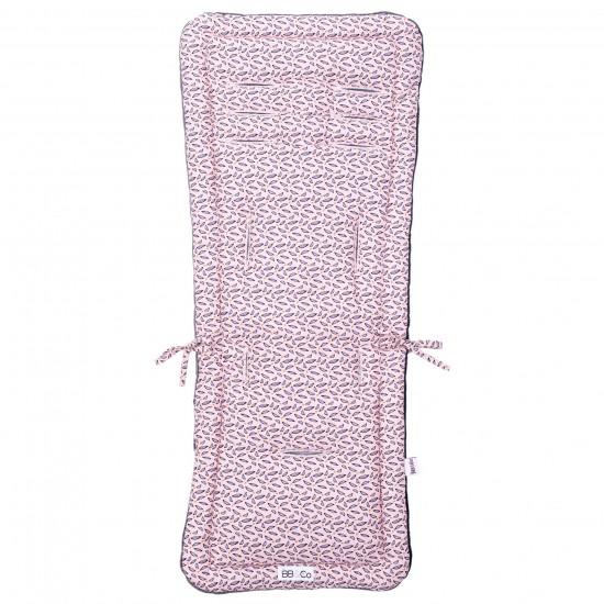 Assise poussette réversible été/hiver imprimé rose - Accessoires poussette par BB&Co