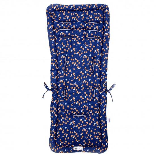 Assise poussette réversible été/hiver imprimé indigo/camel - Accessoires poussette par BB&Co