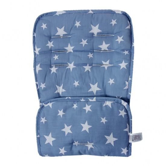 Assise de protection réversible poussette & siège auto - bleu étoiles - Accessoires poussette par Minene
