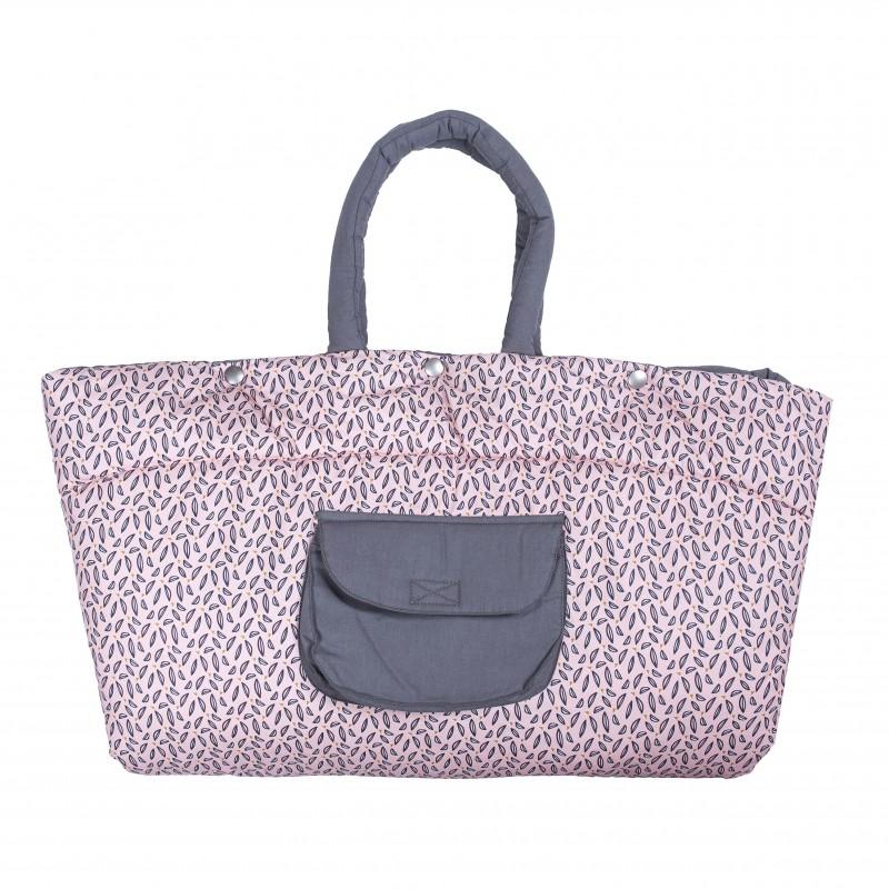 Tapis de jeu nomade transformable en sac rose/gris - Pochettes & Sacs à langer par BB&Co