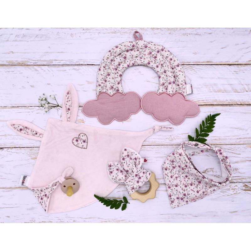Doudou lapin petit cœur rose / liberty - Doudous par BB&Co