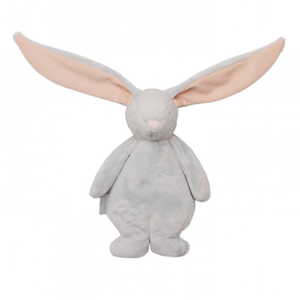 Mini Moonie la peluche sensorielle (gris/rose) - Doudous par Moonie