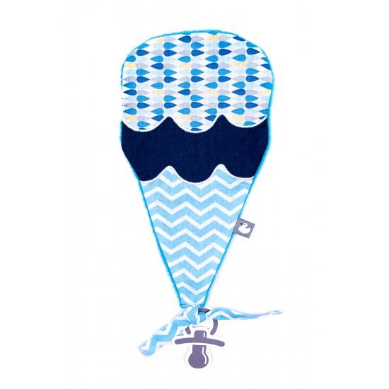 Doudou ice cream bleu / blanc - Doudous par BB&Co