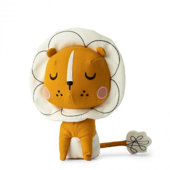 Lion dans boîte cadeau - Accueil par Picca Loulou