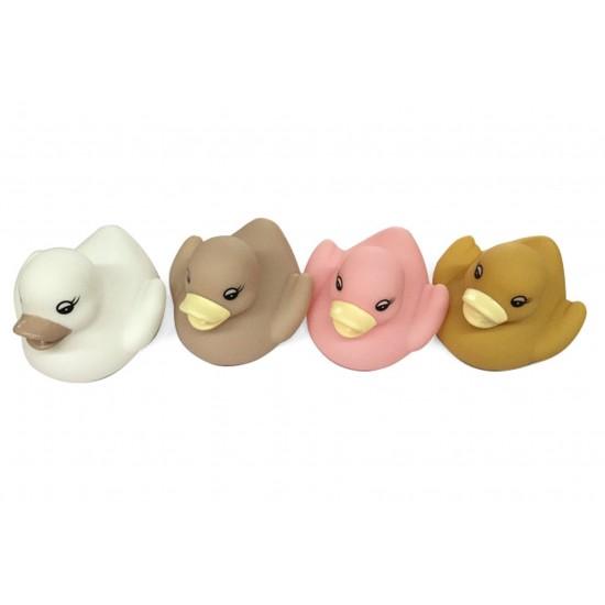 Boîte 4 canards de bain coloris scandi - Jouets par Magni