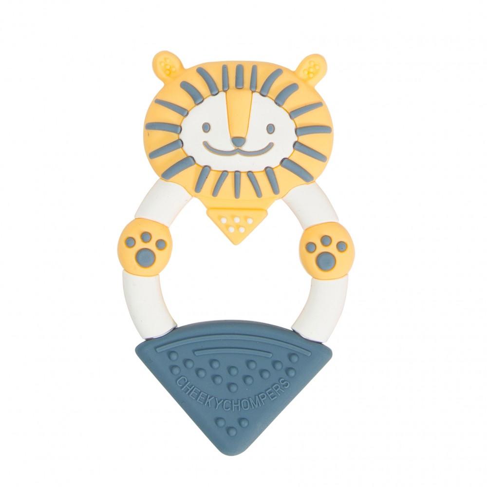 Anneau de dentition silicone - lion - Accueil par Cheeky Chompers