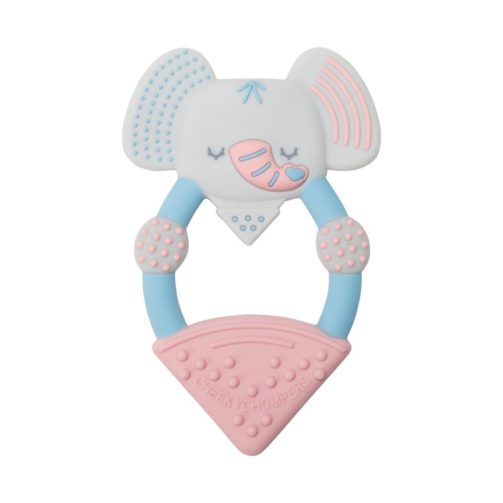 Anneau de dentition silicone - éléphant - Accueil par Cheeky Chompers