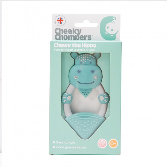 Anneau de dentition silicone - hippopotame - Accueil par Cheeky Chompers