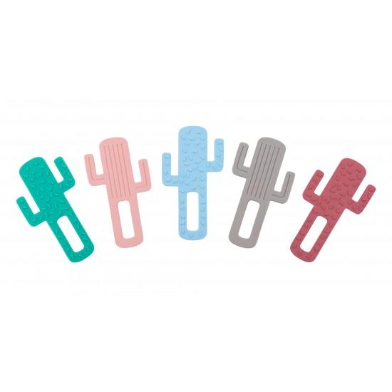 Anneau de dentition silicone Cactus Minikoioi - Rose - Hochets & Anneaux de dentition par Minikoioi